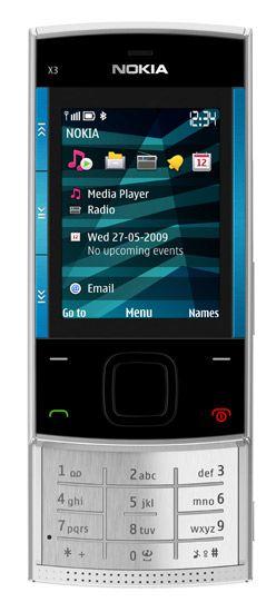 Nokia X3,X3,Nokia 6760,nokia slide,actualite,tests,fiche technique,Acheter en ligne,produits,Logiciels,OVI,Music Store,mobile,portable,phone,music,accessoires,prix,downloads,telecharger,software,themes,ringtones,games,videos,