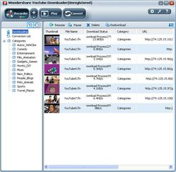 Wondershare Free YouTube Downloader screen