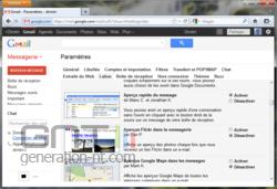 Activer prévisualisation messages dans Gmail