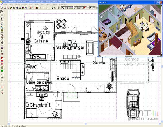 Image 3d architecte classic 2007 567x440 for Architecte 3d android