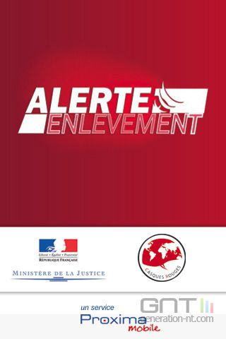 Application Alerte enlèvement sur iPhone