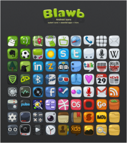 Blawb Icons screen