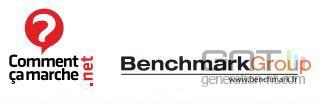 Logo de CommentCaMarche et de Benchmark Group