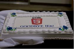Gâteau fin Internet Explorer 6