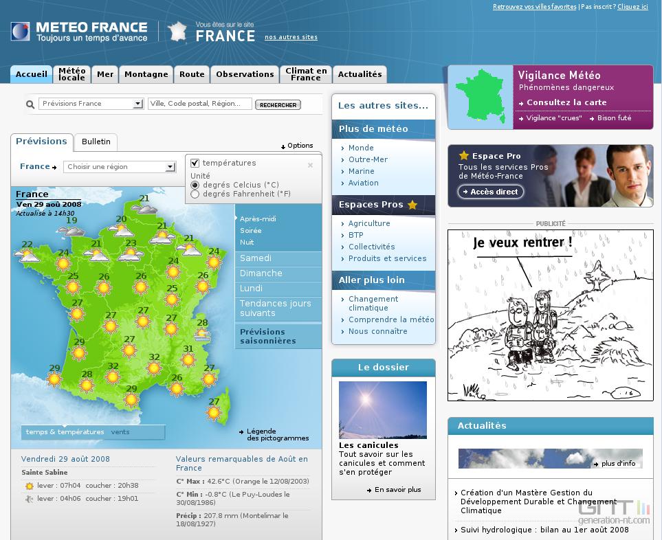 Images : Météo-France : un nouveau site sous gouverne de la ...