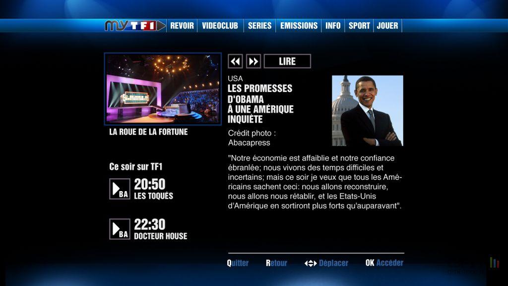 Images : MYTF1 débarque sur la TV d'Orange - MYTF1-