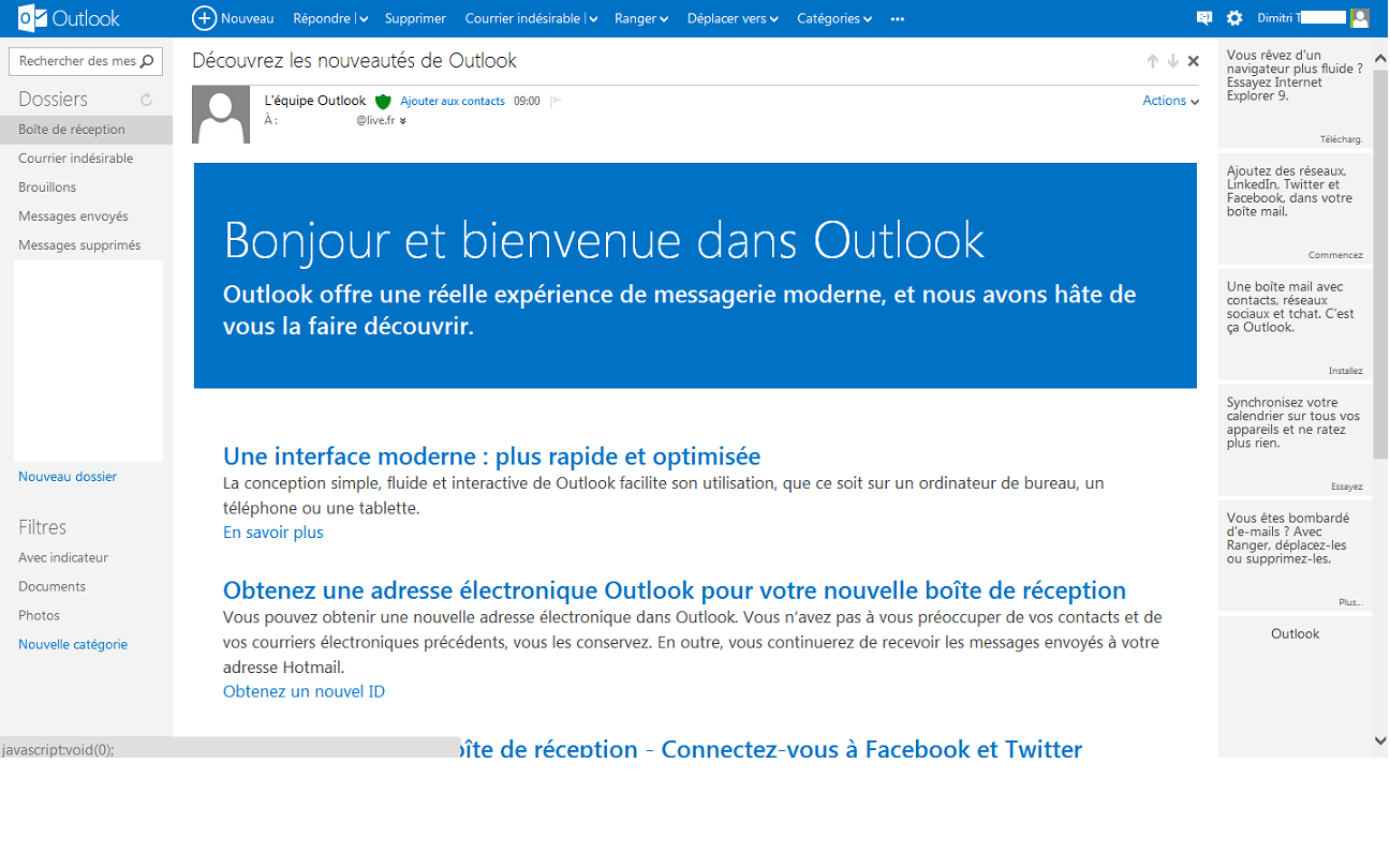 Outlook.com support vieil IMAP programme