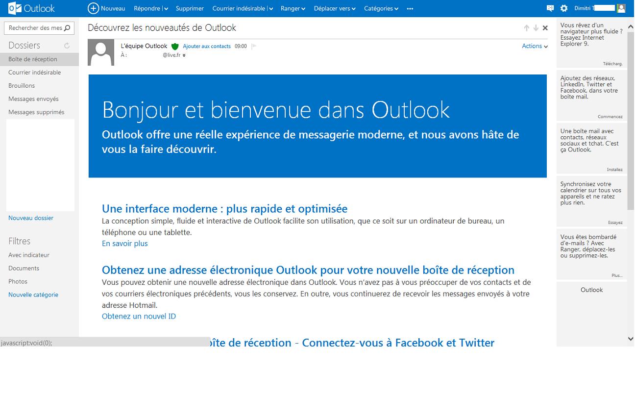 Outlook.com support vieil IMAP programme