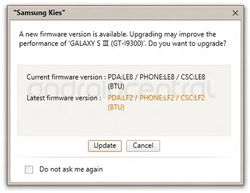 Samsung Galaxy SIII update