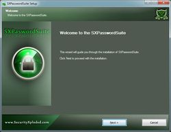SXPasswordSuite screen 2