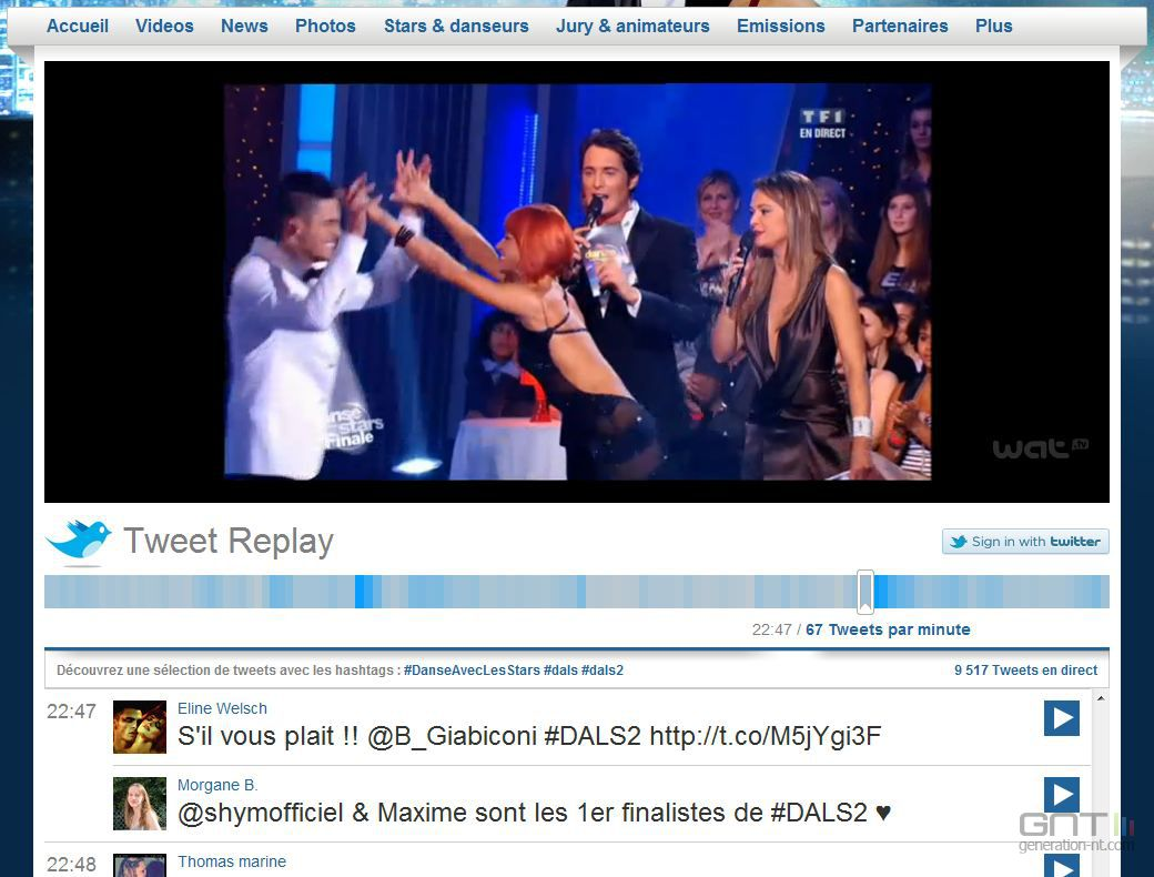 Images : Social TV : TF1 teste le Tweet Replay - Tweet-Replay-MyTF1