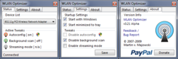 WLAN Optimizer screen1